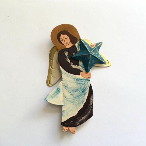 Ornament #12 Angel Holding Star Tin
