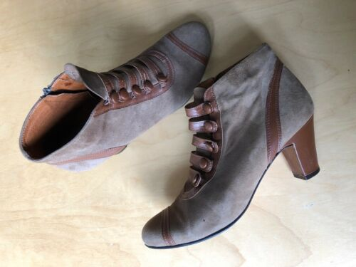 Remix vintage shoes Cassie Boot 8.5 taupe