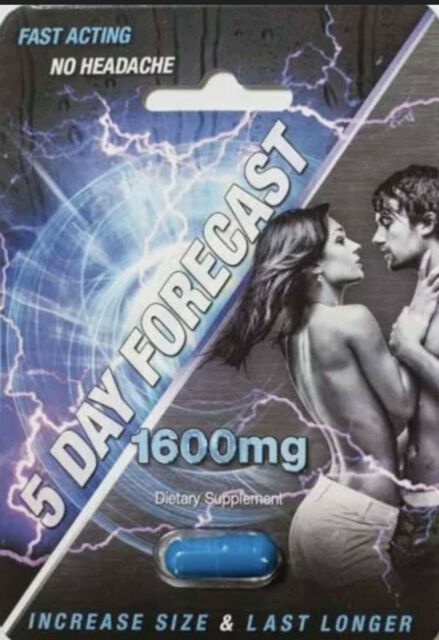 5 Day Forecast 1600mg Male Sexual Enhancement Supplement