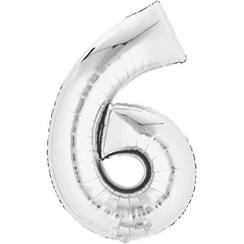 Folienballon 80cm SILBER Zahlenballon Luftballon Hochzeit Helium Füllung Zahl