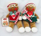 Country Primitive Christmas Gingerbread Boy Girl Plush Toy Holiday Vtg Doll Lot