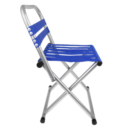Folding Camping Chair Outdoor Hiking Ultralight Portable Foldable Blue S