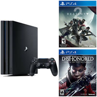 Sony PlayStation 4 Pro 1TB Gaming Console (Black) + Destiny 2 + Dishonored: Death of the Outsider
