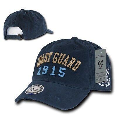 Navy Blue Vintage United States US Coast Guard USCG Military Baseball Cap Hat