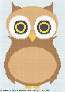 Crochet-Patterns-OWL-Color-Graph-Afghan-Pattern-EASY