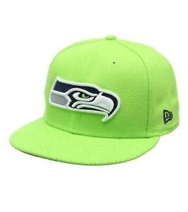reputable site 9baf3 6d85e Image is loading NFL-Seattle-Seahawks-New-Era-9FIFTY-Snapback-Cap-
