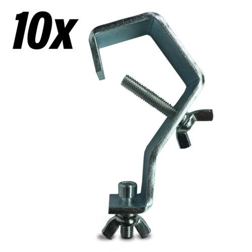 10x Haken für 50mm Rohr 20 kg Tragkraft Theaterhaken Scheinwerferhaken Truss NEU