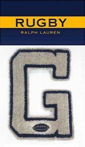 Rugby-Ralph-Lauren-G-Chenille-Letterman-Football-Patch-RLFC-Polo-P-Wings-Stadium