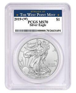 2019-1oz-Silver-Eagle-PCGS-MS70-West-Point-Label