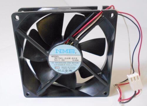 1pc NMB 3610KL-04W-B59 fan 0.43A 12V 90*90*25mm 3pin #c1