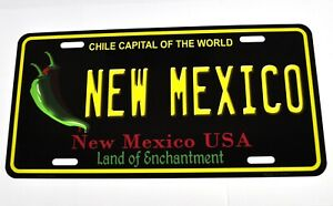 USA New Mexico Nummernschild License Plate Blech Deko Schild Blechschild schwarz