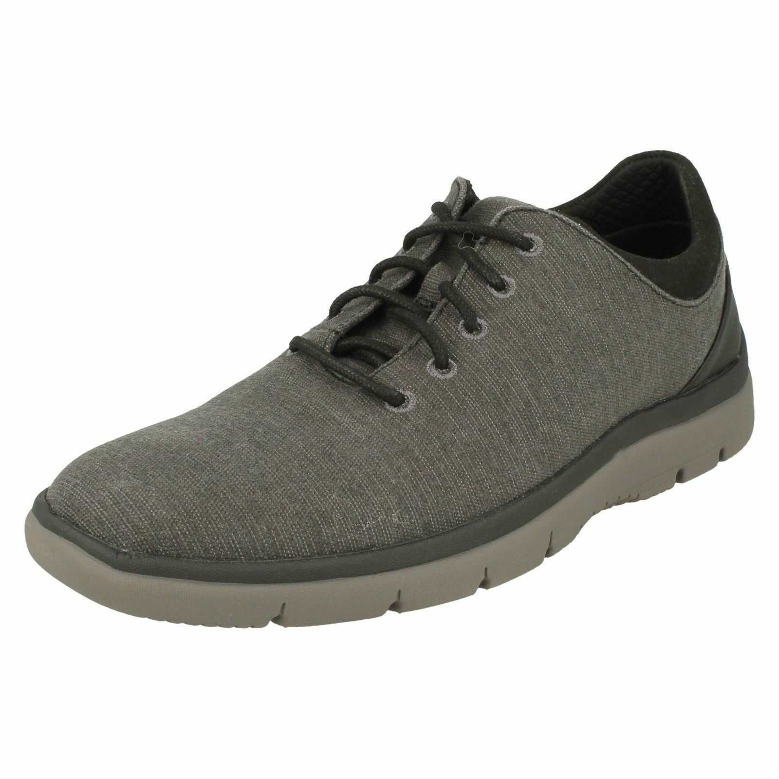Mens Clarks Stylish Lace-Up Casual Trainers Tunsil Ace    |  | New Style  | Outlet Store Online