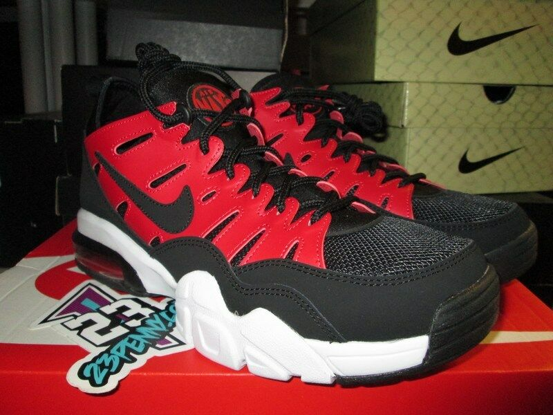 SALE NIKE AIR TRAINER MAX '94 LOW BLACK GYM RED WHITE 880995 600 SZ 8.5-13 NEW