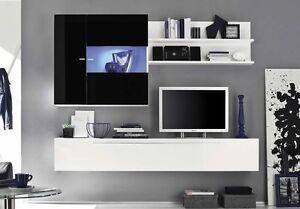 Mobile parete soggiorno moderna Primo Line H vetrina porta tv ...