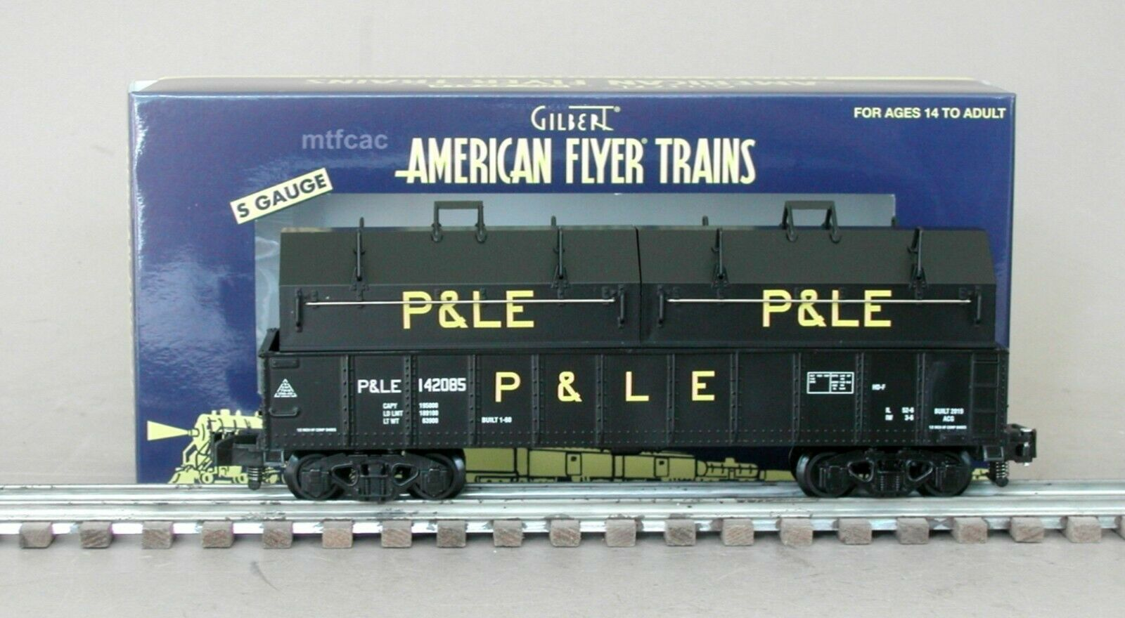 American Flyer 1919091 Pittsburgh & Lake Erie Coverot Gondola 142085 by Lionel