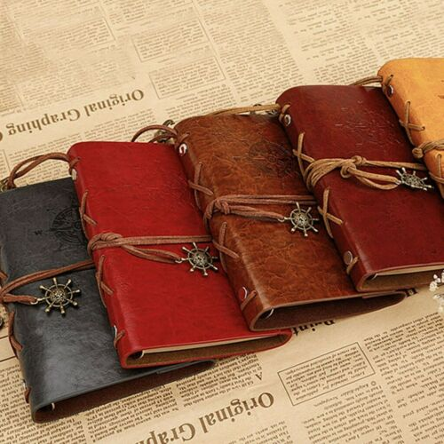 Classic Retro PU Vintage Journal Travel Notepad Notebook Blank Diary Books