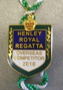 HENLEY-ROYAL-REGATTA-ENAMEL-Badge-OVERSEAS-COMPETITOR-2010-ROWING