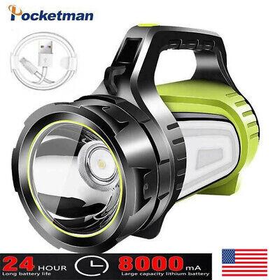 Super Bright 50W LED Searchlight Spotlight USB Rechargeable Flashlight Lantern