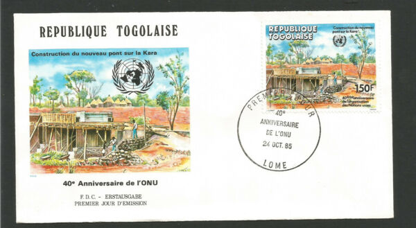 Collection Ici Fdc 1er Jour République Togolaise 1985 Lomé O.n.u. /l1724