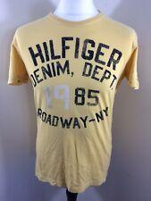 """Men's TOMMY HILFIGER - Hilfiger Denim T-Shirt - Medium - 40"""" Chest - Yellow"""