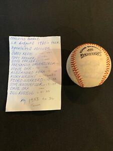 LA-Dodgers-signed-Spalding-baseball-1983-Reuss-Valenzuela-Sax-Russell-Pena