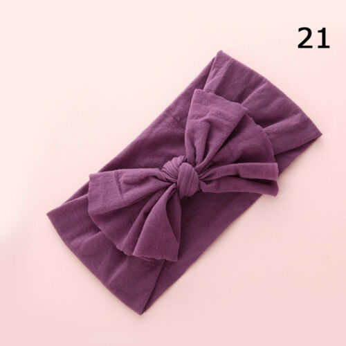 Baby Girls Kids Toddler Bow Hairband Bandeau Extensible Turban Knot Head Wrap