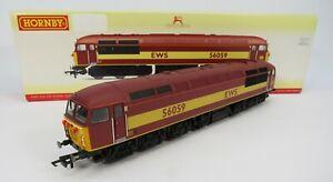 OO-Gauge-Hornby-R2648-Class-56-059-EWS-Livery-Loco-Please-Read-Description