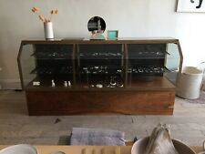 Custom Made Glass Display Case Solid Wood Amp Brass Frame