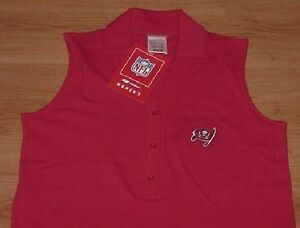 3b6668a7 Image is loading Tampa-Bay-Buccaneers-Polo-Shirt-Sleeveless-Ladies-Reebok-