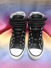 Converse Chuck Taylor All Star Black Leather Hi Tops. Free & Fast Postage