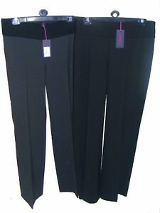 Womens-Clothing-Maternity-Trousers-Black-Grey-Work-Trousers-FREE-P-amp-P
