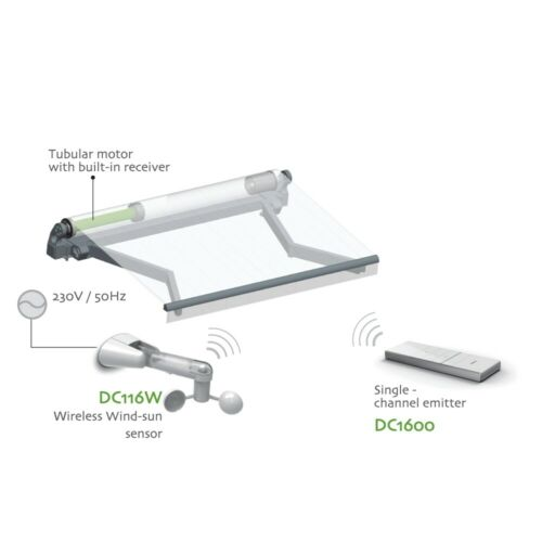 ALEKO Wind and Sun Sensor for Motorized Retractable Awning
