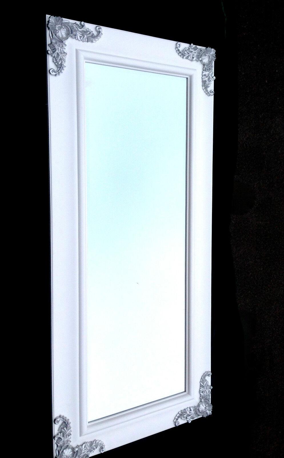 xxl wandspiegel wei silber 180x80 wei friseurspiegel flur spiegel gro ebay. Black Bedroom Furniture Sets. Home Design Ideas