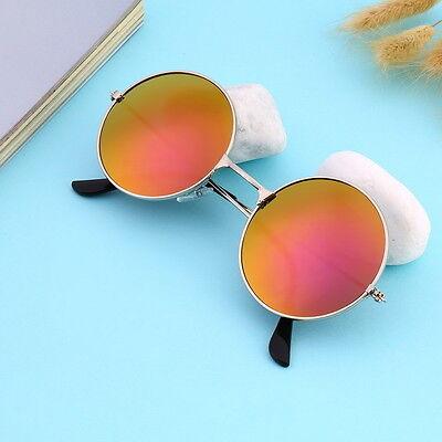 Unisex Vintage Retro Men Women Round Metal Frame Sunglasses Glasses Eyewear OE