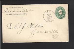 LOWELL-OHIO-1897-2CT-COVER-TO-ZANESVILLE-WASHINGTON-CO-1837-OP