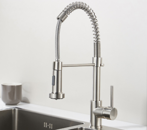 Industrial Spring Style Modern Kitchen Faucet Brushed Nickel Ebay
