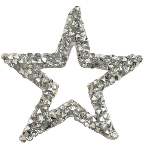 60mm revisión hierro en centro de diamantes de imitación diamante cortar estrellas Apliques De Parche Para Vestido