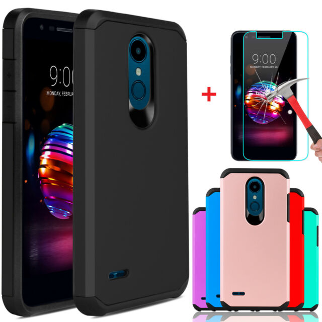 official photos 3b47b b40ae For LG K30/Xpression Plus/Premier Pro LTE Case Cover With Glass Screen  Protector