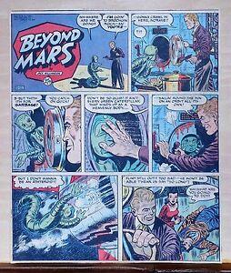 Beyond Mars by Jack Williamson - scarce full tab Sunday comic page Jan. 11, 1953