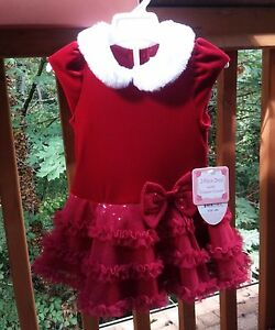 image is loading new jona michelle velvet and tulle baby party - 12 Month Christmas Dress