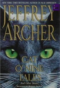 JEFFREY-ARCHER-CAT-O-039-NINE-TALES-SHOP-SOILED-CAT-FACE-COVER-FREEPOST-UK