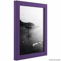 Craig Frames Confetti, Modern Purple Solid Wood Picture Frame