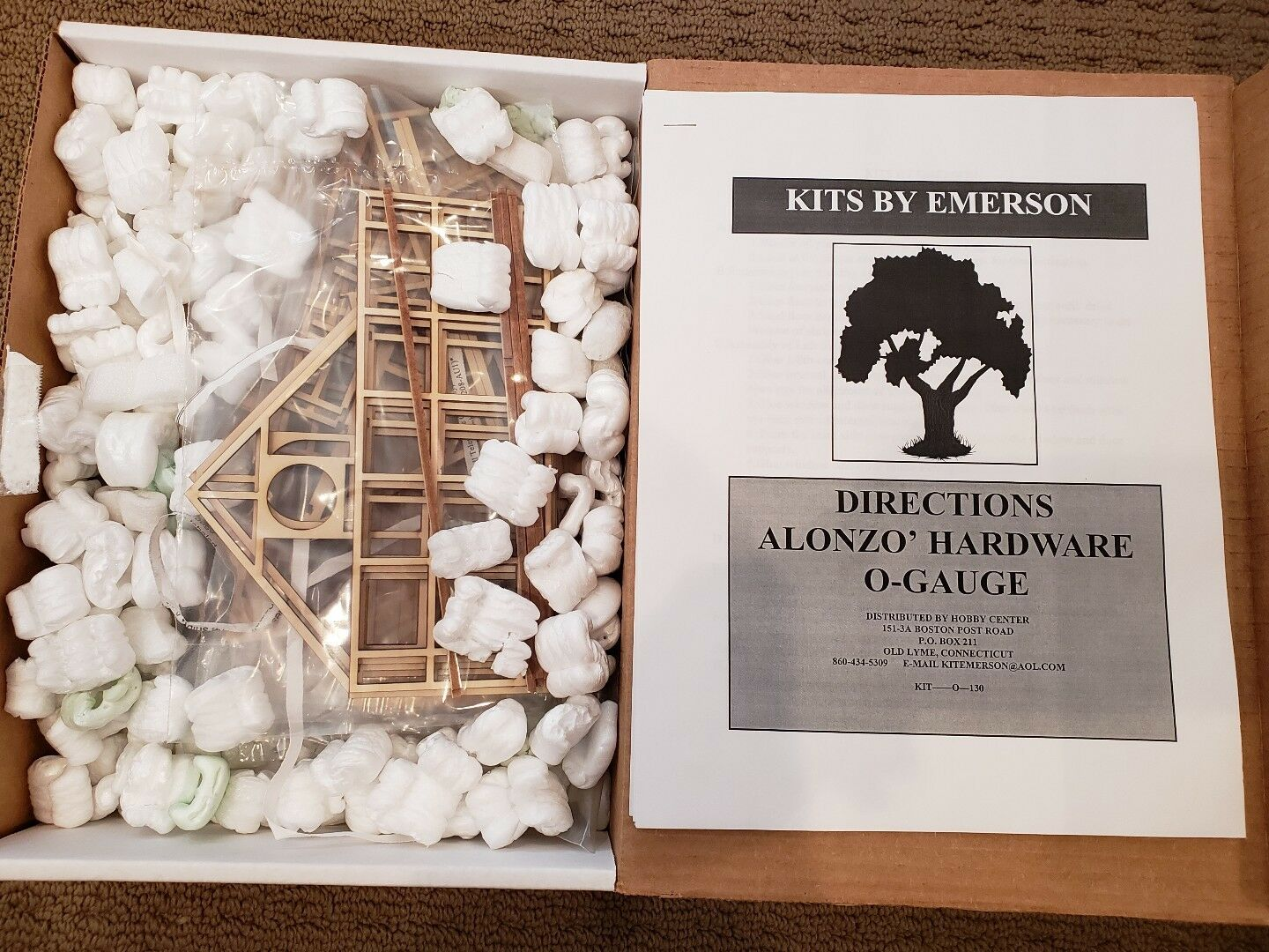 O GAUGE KITS BY EMERSON ALONZO HARDWARE. NEW