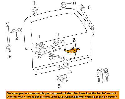 For Toyota Genuine Liftgate Latch Handle Rear Outer 6902335010