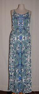 TAMARIS-Traeger-Kleid-Maxikleid-Sommerkleid-Viskose-allover-print-pailletten-NEU
