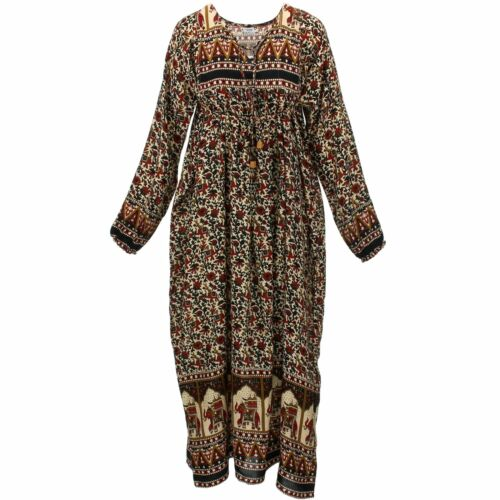 Indian Hippy Dress Siesta Top Long Ladies Blouse Hippy