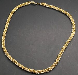 chain antique necklace school twisted gold old l chains rope russian ebay