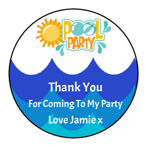 Pool-Party-Swimming-Boy-Personalised-Thank-You-Stickers-Party-Bag-Sweetie-Cone