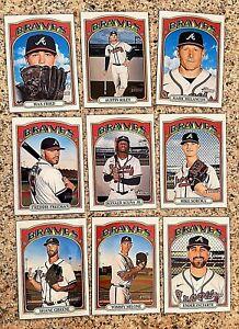 Lot of 9 2021 Topps Heritage  Atlanta Braves Baseball cards, Ronald Acuna Jr