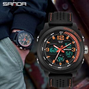 Sanda-Men-Sport-Watch-Dual-Display-Analog-Digital-LED-Electronic-Wrist-Watches